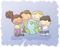 Kids Can Heal - Children holding the earth